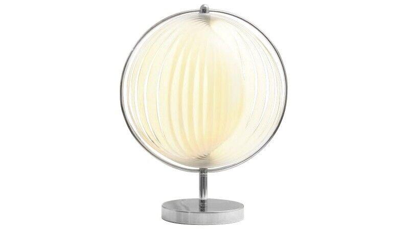 gdegdesign Lampe à poser design boule ronde blanche - Moon JR
