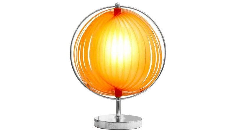 gdegdesign Lampe à poser design boule ronde orange - Moon JR