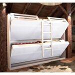 Inside75 Armoire lits superposés JACQUELIN coloris gris clair 2 couchages... par LeGuide.com Publicité