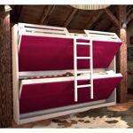Inside75 Armoire lits superposés JACQUELIN coloris fuchsia 2 couchages... par LeGuide.com Publicité