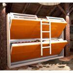 Inside75 Armoire lits superposés JACQUELIN coloris jaune mandarine 2... par LeGuide.com Publicité