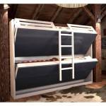 Inside75 Armoire lits superposés JACQUELIN coloris noir clair 2 couchages... par LeGuide.com Publicité