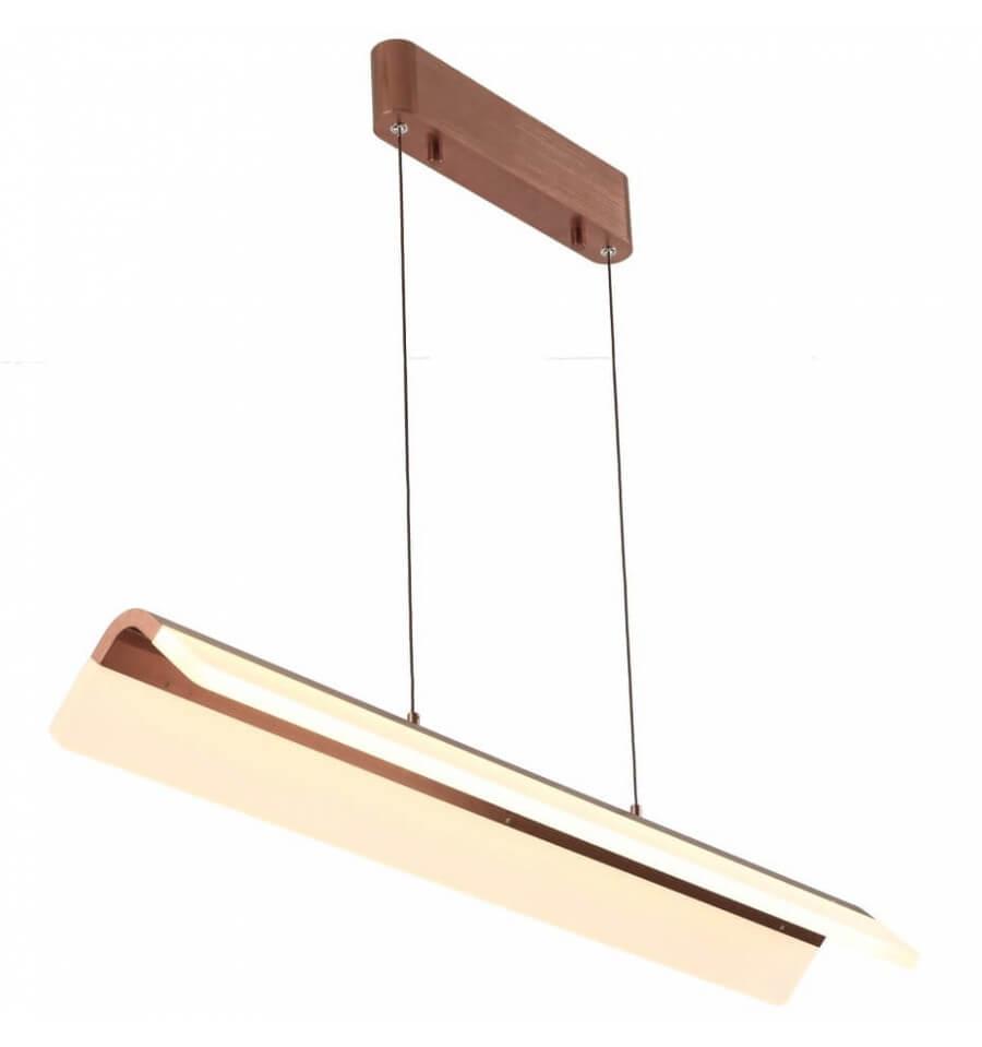 KOSILUM Suspension à LED couleur cuivre foncé - Argos - Cuivre - Aluminium et acrylique - KOSILUM