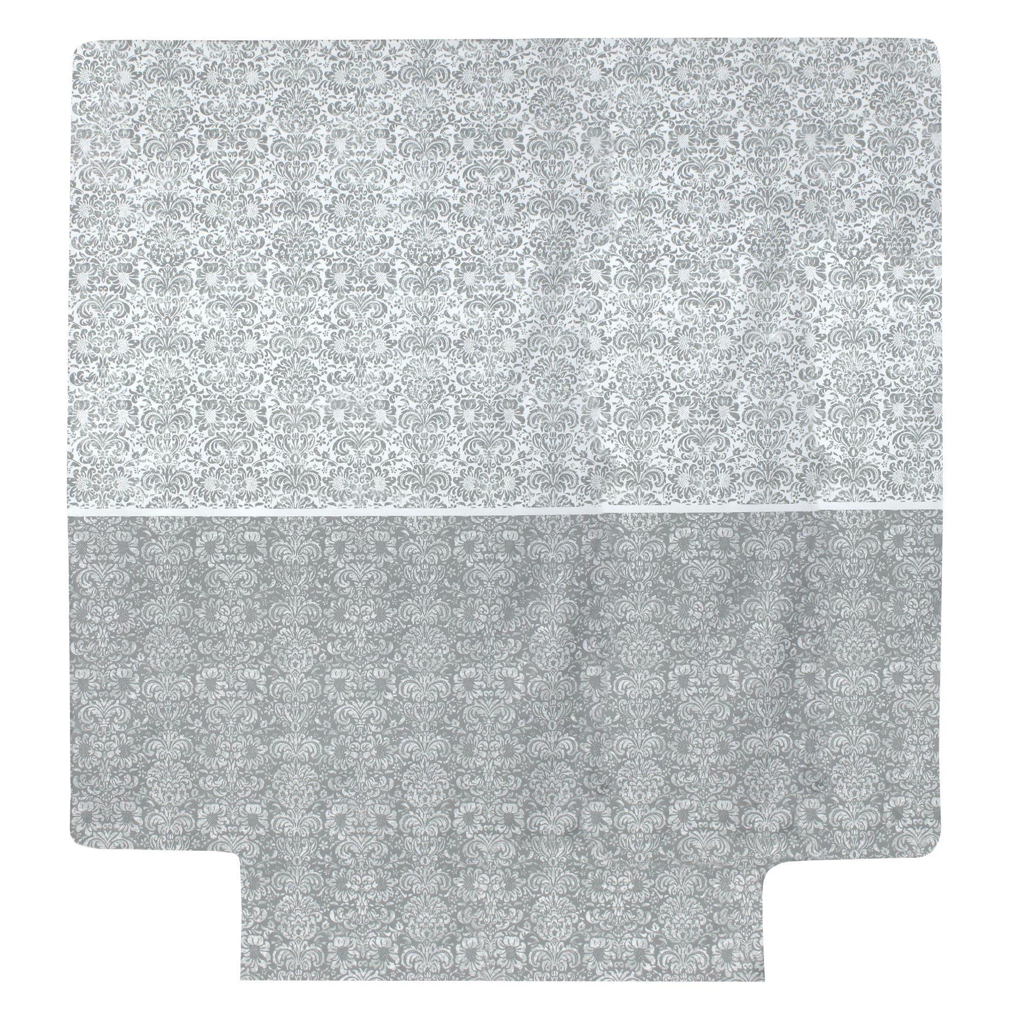 Linnea Housse de couette 240x220 cm Percale pur coton AMBOISE Gris
