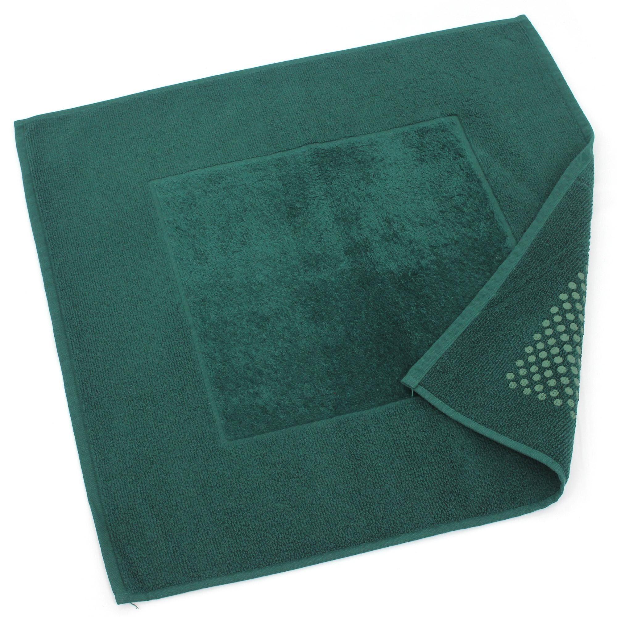 Linnea Tapis de bain antidérapant 60x60 cm velours PRESTIGE vert Kaki