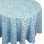 Linnea Nappe ovale 180x300 cm Jacquard 100% coton SPIRALE bleu turquoise... par LeGuide.com Publicité