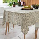Linnea Nappe rectangle 160x200 cm GRAPHIC beige 100% coton + enduction... par LeGuide.com Publicité