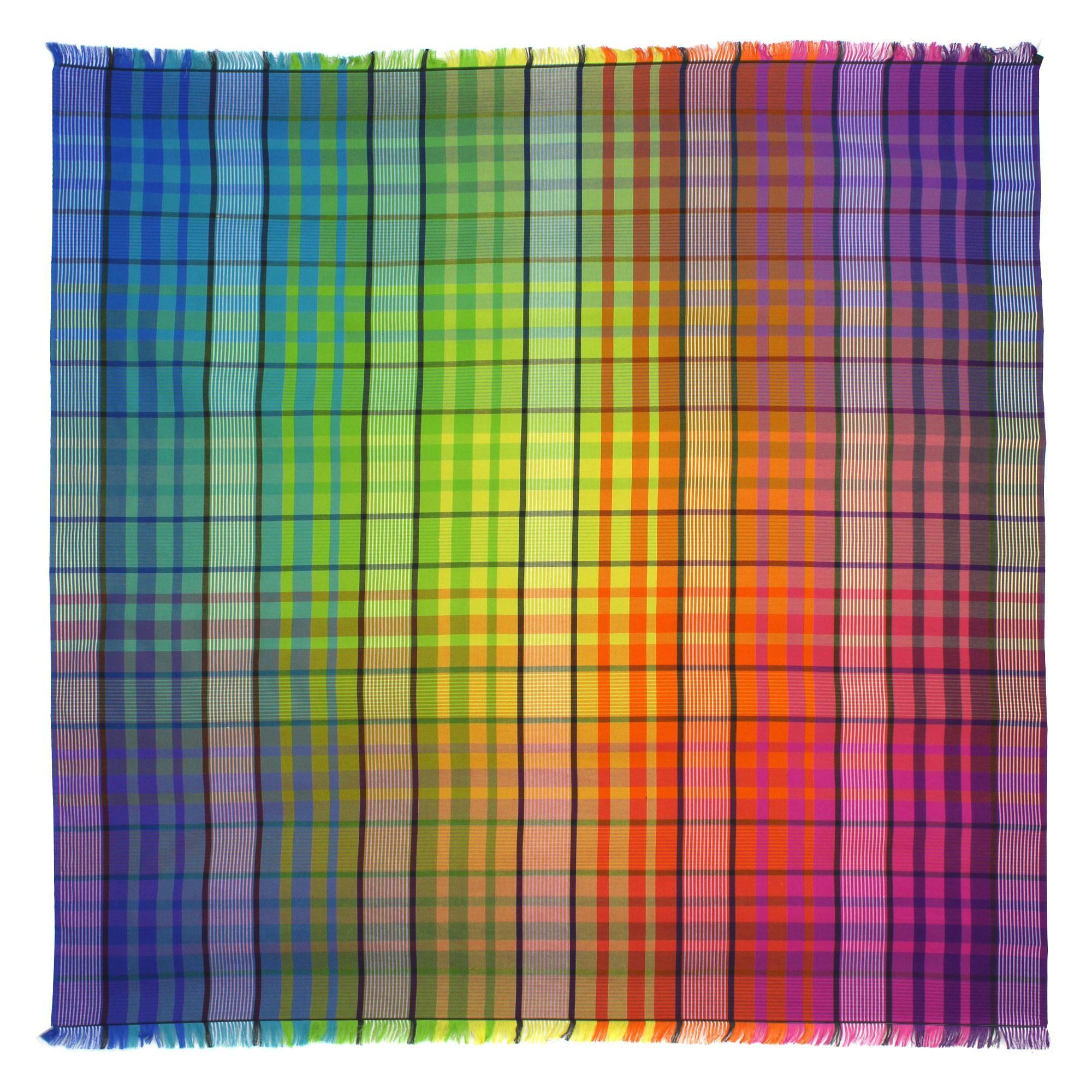 Linnea Drap de plage Fouta carrée 180x180 cm 100% coton 290 g/m² MAREMMA Carreaux Multicolore