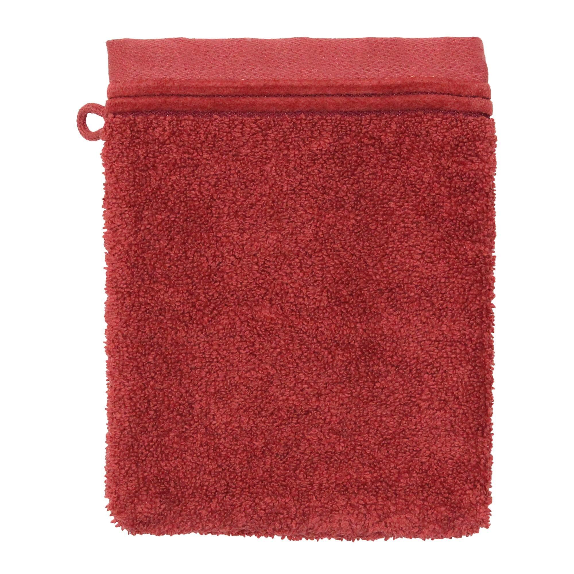 Linnea Gant de toilette 16x21 cm JULIET Rouge Terracota 520 g/m2