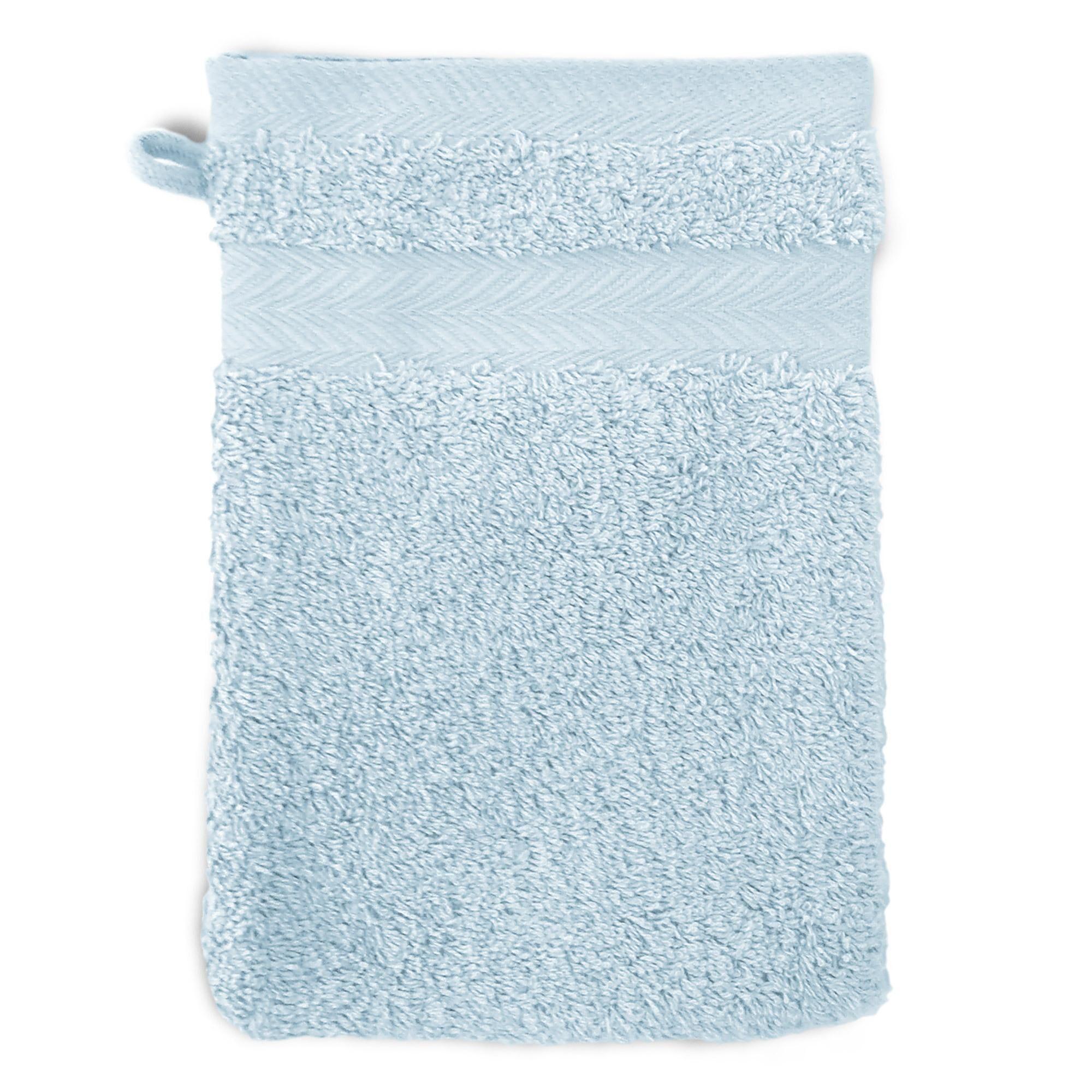 Linnea Gant de toilette 16x21 cm ROYAL CRESENT Bleu Pâle 650 g/m2