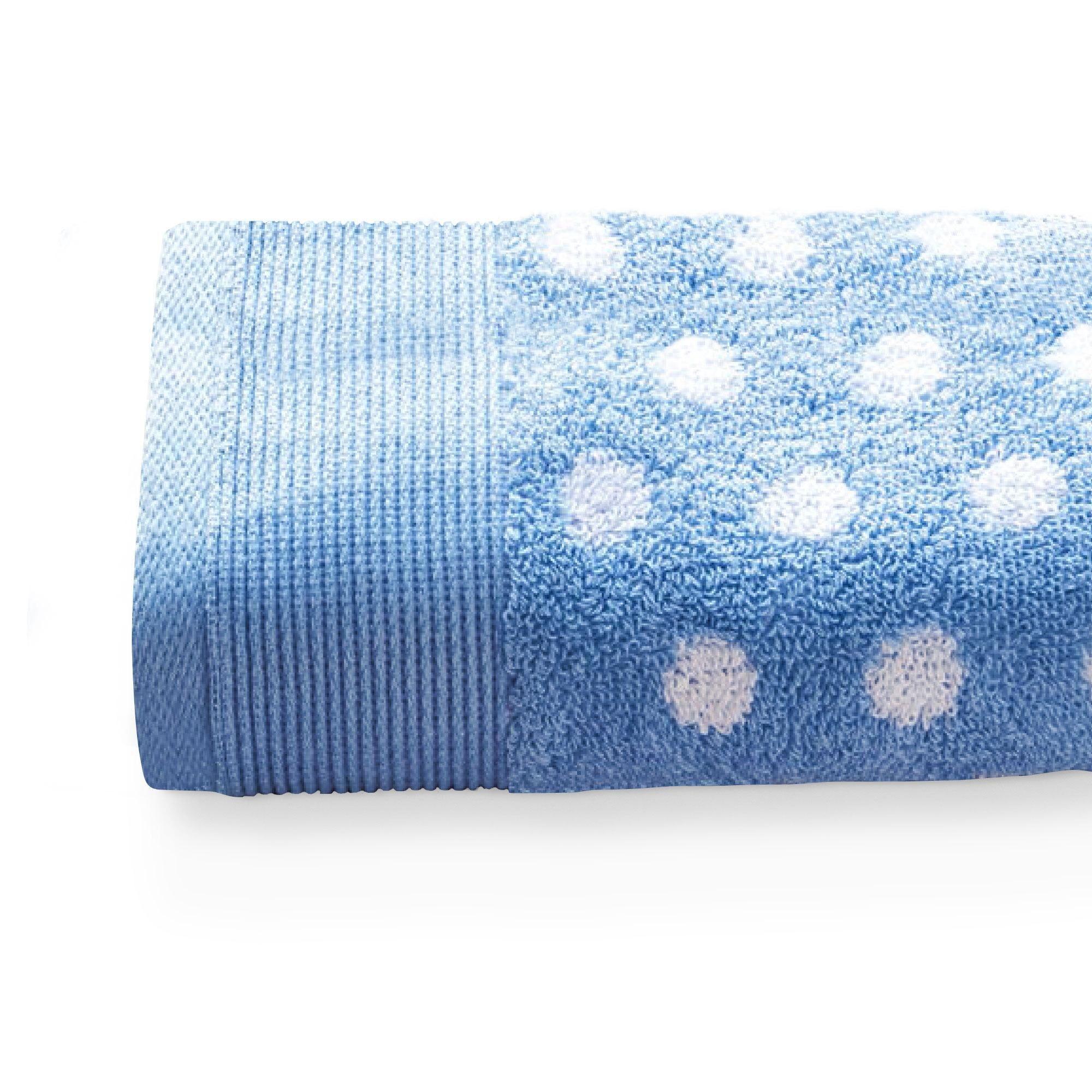 Linnea Serviette invité 33x50 cm DOMINO Bleu 550 g/m2