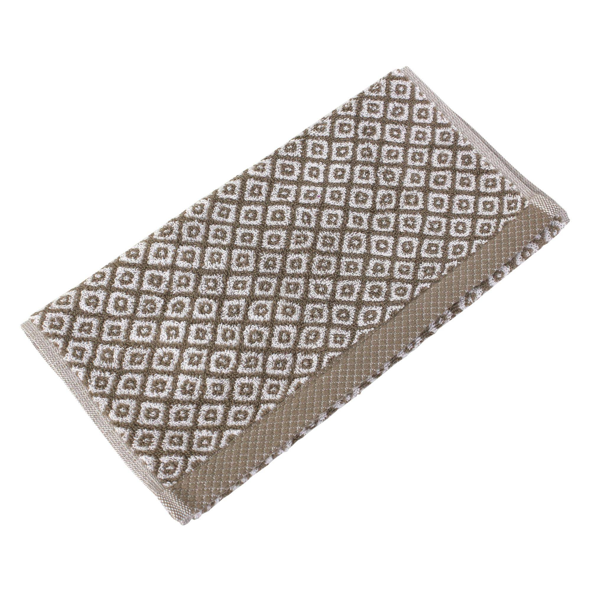 Linnea Serviette invité 33x50 cm SHIBORI mosaic Beige 500 g/m2