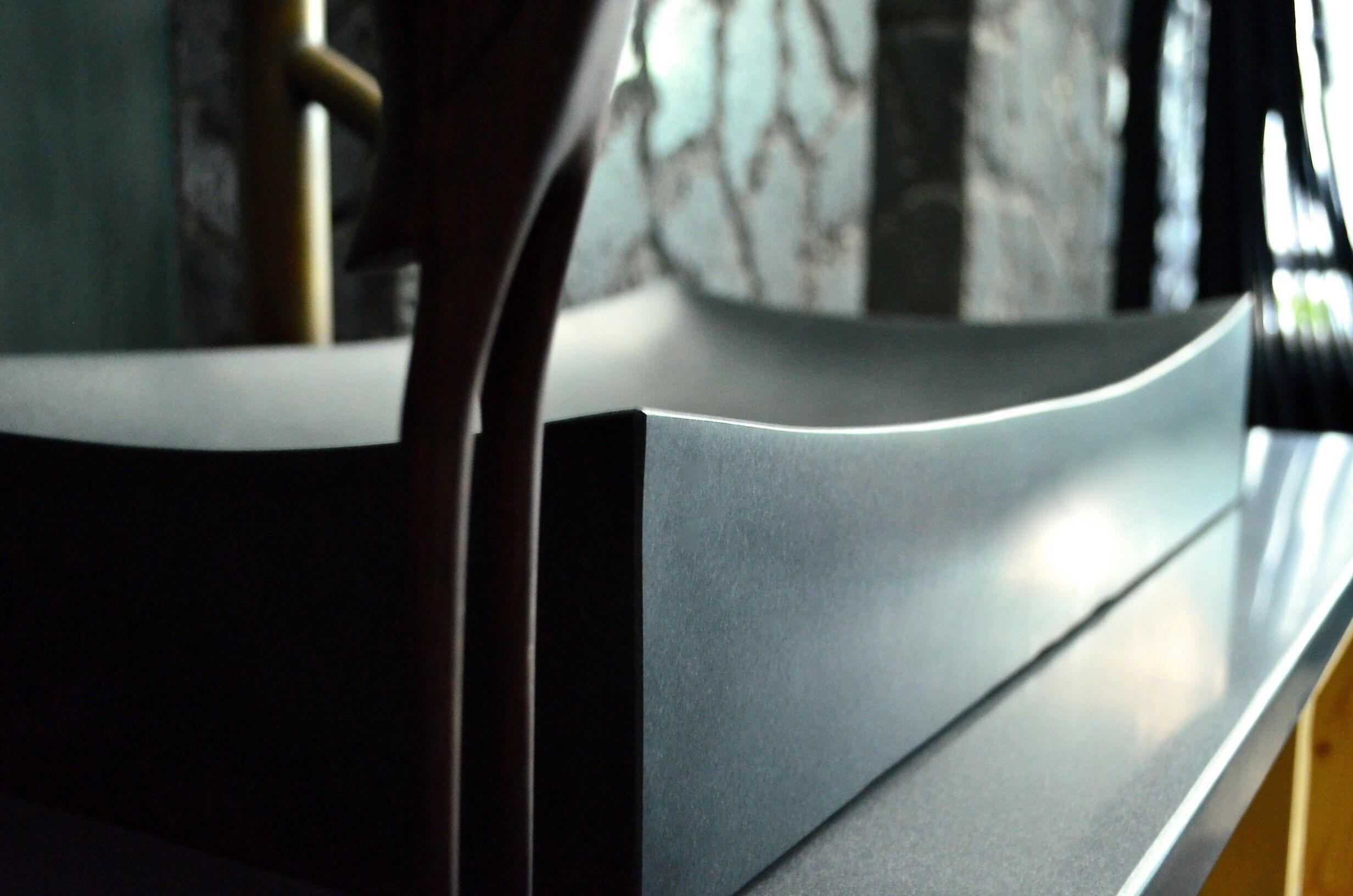 LivingRoc Vasque salle de bain pierre noire granit véritable TOJI SHADOW