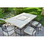 livingroc  LivingRoc Table jardin pierre naturelle 160-200 mosaique marbre... par LeGuide.com Publicité