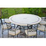 livingroc  LivingRoc Table de jardin mosaique ronde pierre marbre 160-125... par LeGuide.com Publicité
