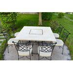 livingroc  LivingRoc Table de jardin en pierre mosaique de Travertin carree... par LeGuide.com Publicité