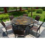 livingroc  LivingRoc Table de jardin ronde mosaique d'ardoise 125-160... par LeGuide.com Publicité
