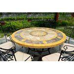 livingroc  LivingRoc Table de jardin mosaique ronde de marbre 125-160 FLORIDE... par LeGuide.com Publicité