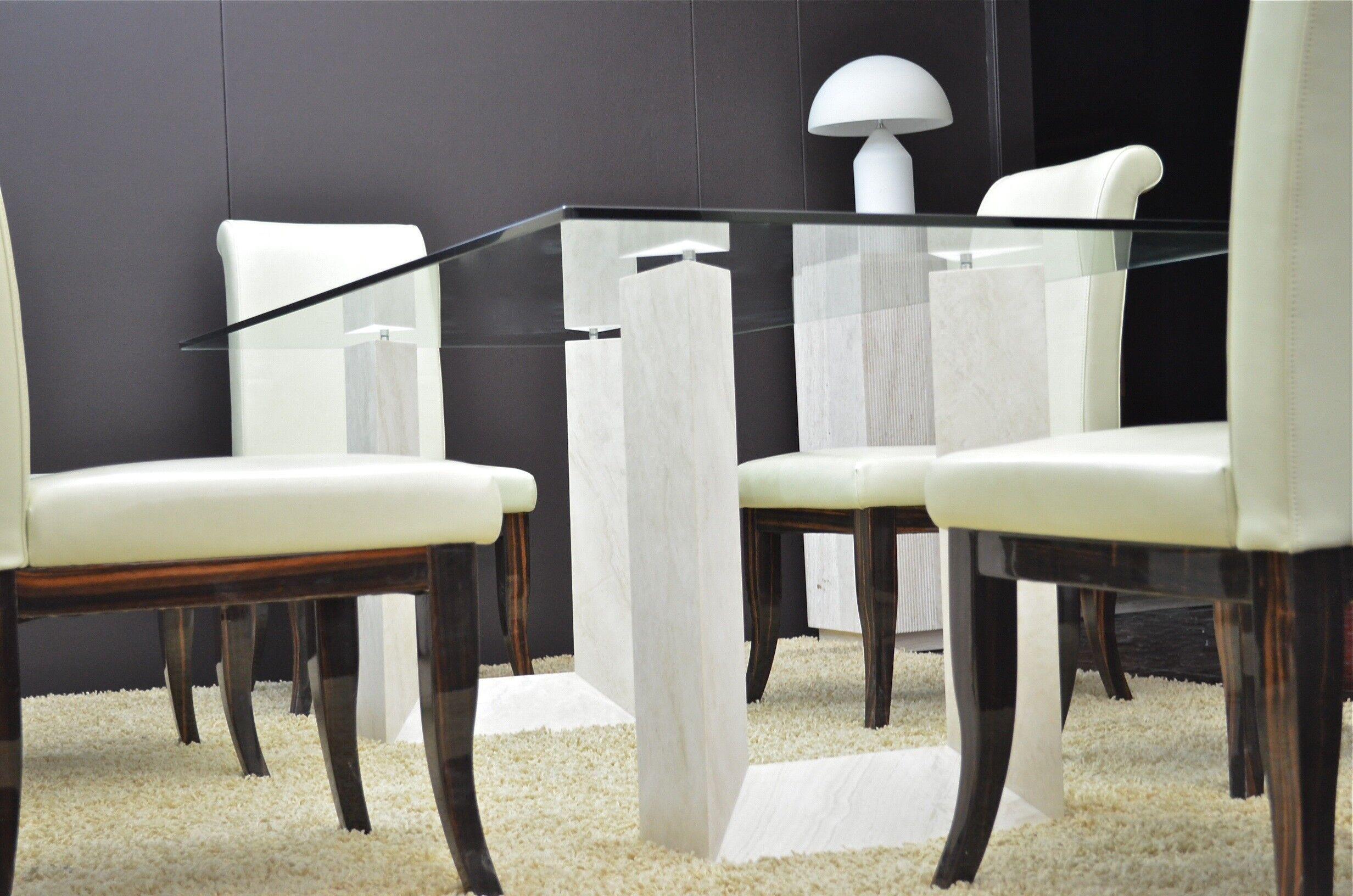 LivingRoc Table salle à manger en marbre Persan - NAXOS