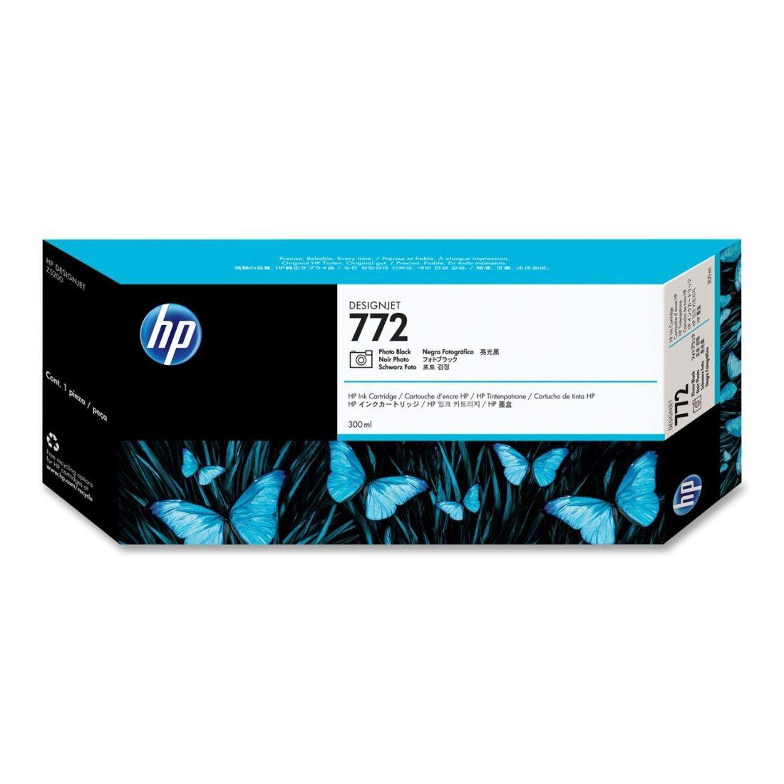 HP Cartouche encre noire photo n°772 - 300 ml