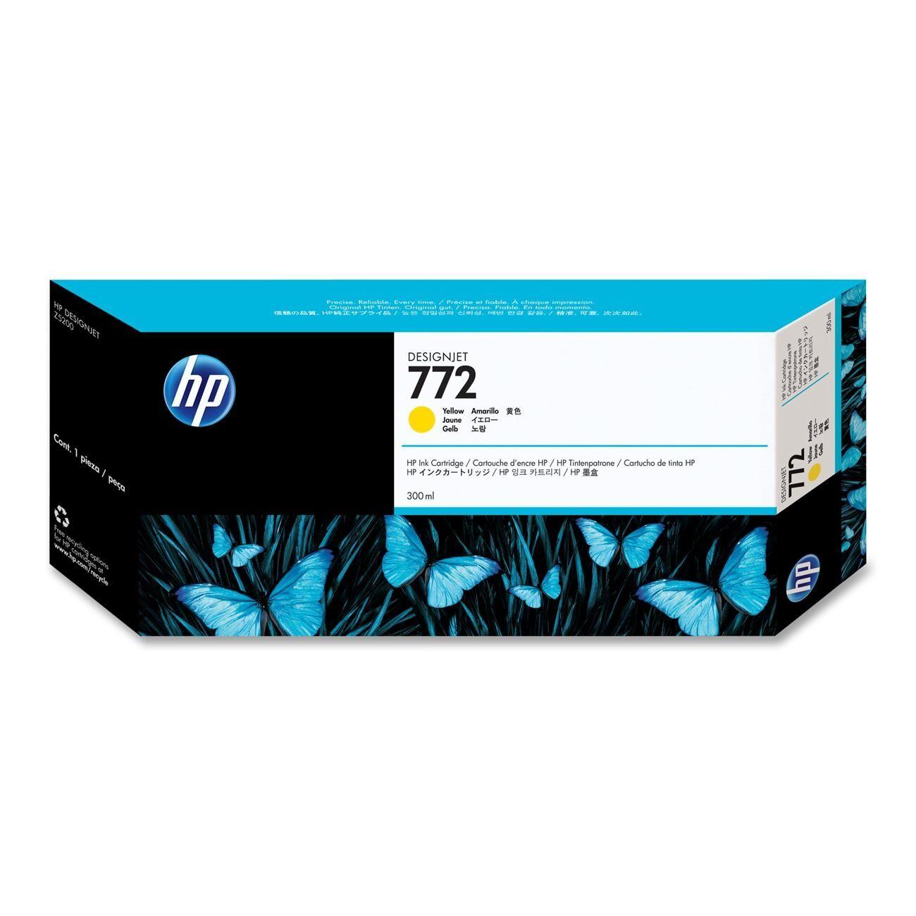 HP Cartouche encre jaune n°772 - 300 ml