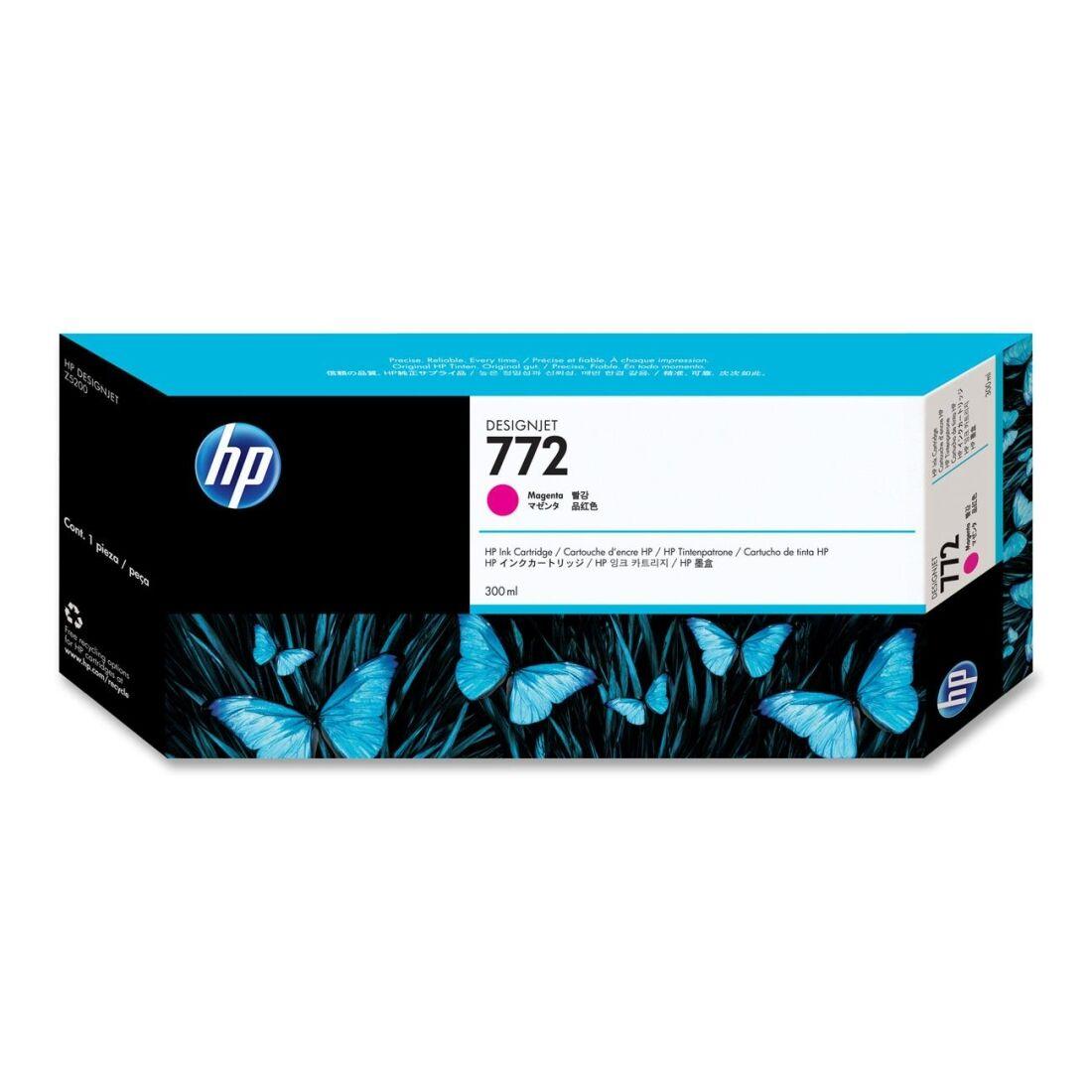HP Cartouche encre Magenta n°772 - 300 ml