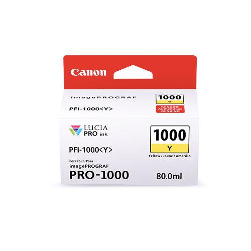 CANON Cartouche encre Jaune PFI-1000 Y Canon 80 ml