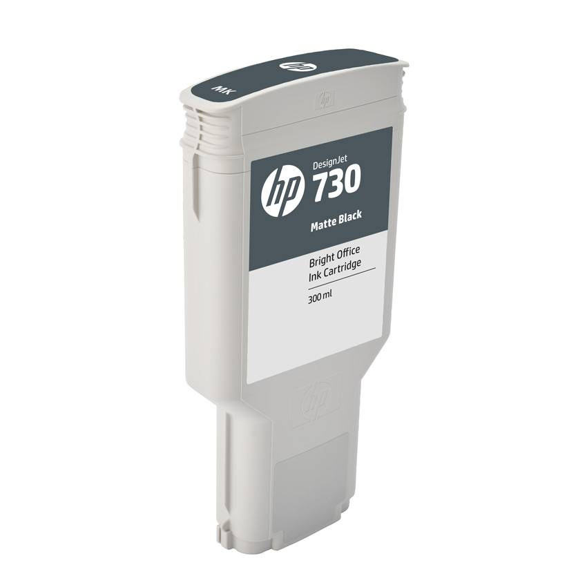 HP Cartouche encre Noire Mate HP N°730 300ml P2V71A