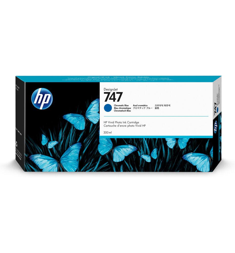 HP Cartouche encre Bleu Chromatique HP 747 - 300 ml P2V85A