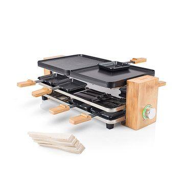 Tristar Appareil à raclette en bambou pour 8 personnes 1200 W 01.162910.01.001 Tristar