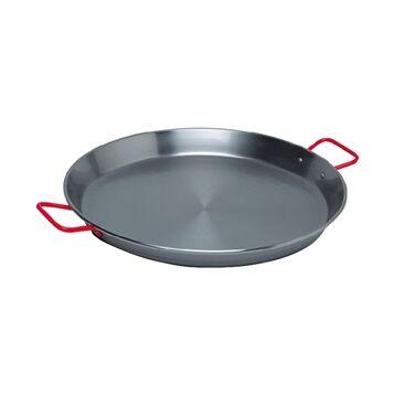Plat à paëlla acier poli 34 cm