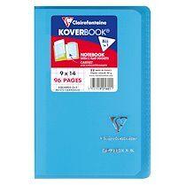 Carnet piqué Koverbook 9x14cm 96 pages petits carreaux Couleur aléatoire - Assortis - Lot de 20