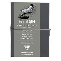 Paint'ON Gris carnet cousu 32F A5 250g - Gris - Lot de 2