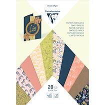 MULTI-PAPIERS, Bloc de 20 feuilles au format 21x29,7cm - Safari - Lot de 5