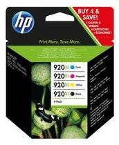 HP Cartouche HP 920XL pack de 4 couleurs