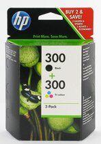 HP Cartouche imprimante jet d'encre noir + couleur HP300 - CN637EE - Duopack