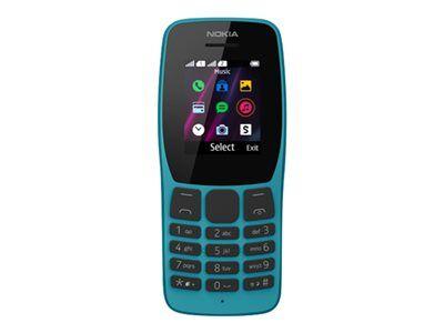 Nokia 110 - Téléphone mobile - double SIM - 4 Mo - microSDHC slot - GSM - RAM 4 Mo - - Nokia Series 30+ - bleu de mer