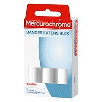 Mercurochrome Bandes extensibles Mercurochrome 2 m x 7 cm - Paquet de 3