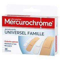 Mercurochrome Boîte de 50 pansements universel famille Mercurochrome