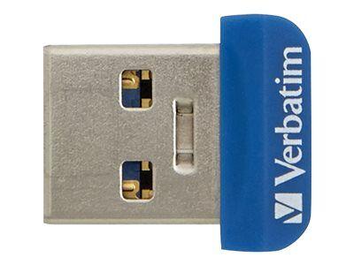 Verbatim Store 'n' Stay NANO - Clé USB - 32 Go - USB 3.0 - bleu