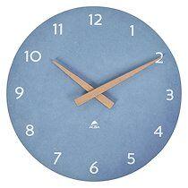 Alba Horloge murale Scandy Ø 30 cm - À quartz - bleu