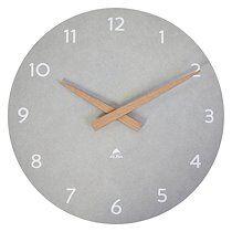 Alba Horloge murale Scandy Ø 30 cm - À quartz - gris