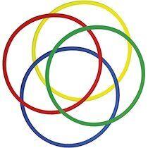 Lot de 4 Cerceaux ronds assortis en polyéthylène, Diamètre 65 cm, diamètre tube 2 cm - Lot de 2