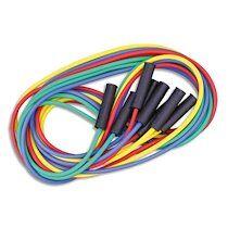 Lot de 4 maxi cordes à sauter, longueur 4 m, couleurs assorties. Fabriqués en France