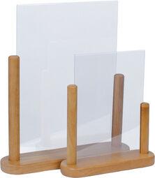 Ardoise de table TABLE, A5, teck