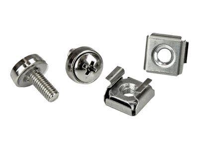 StarTech.com Vis M5 et écrous cages M5 pour rack serveur - Vis M5 12 mm de montage pour armoire - Paquet de 20 - Kit de vis pour rack