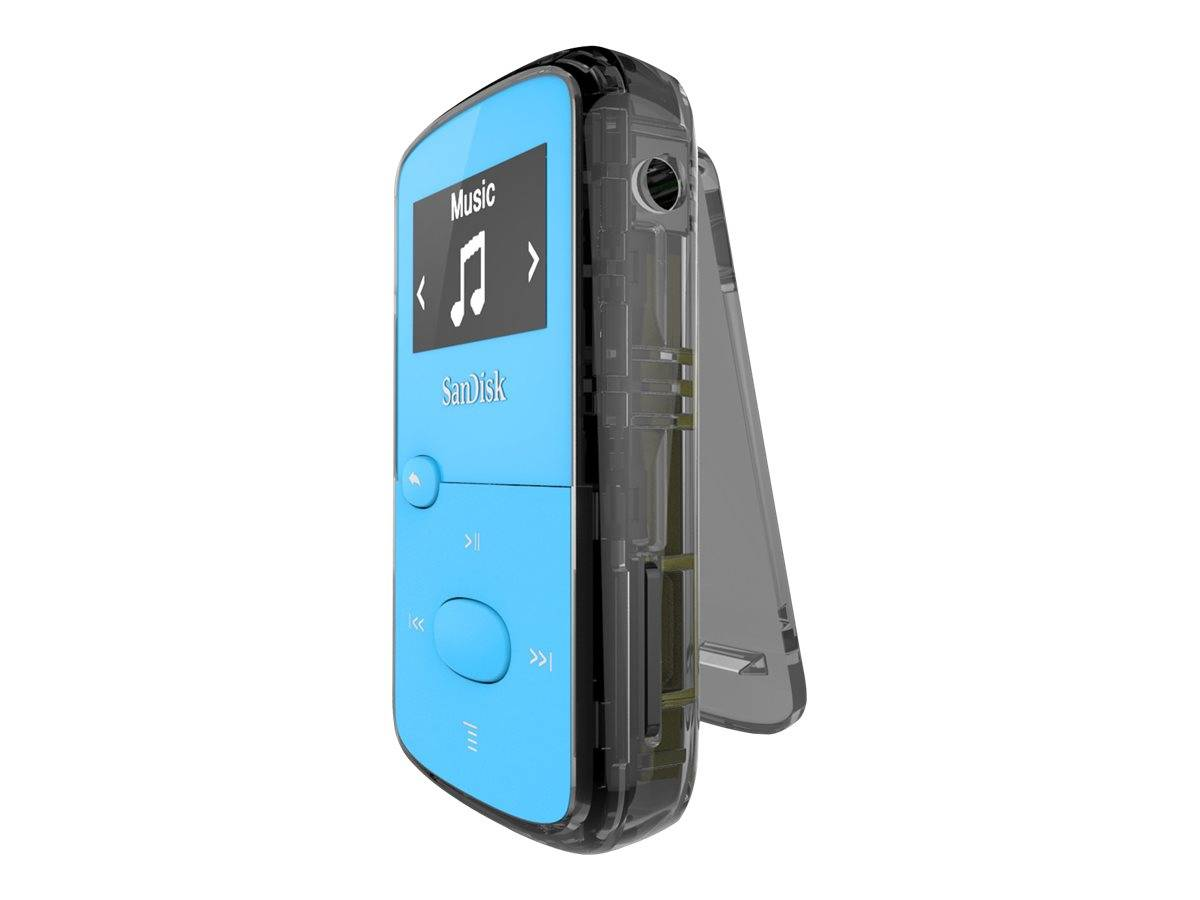 SanDisk Clip Jam - Lecteur numérique - 8 Go - bleu