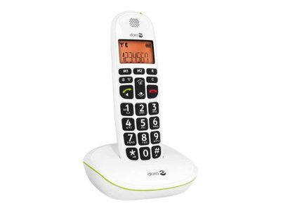Doro PhoneEasy 100w - Téléphone sans fil avec ID d'appelant - DECT\GAP - blanc