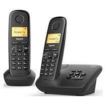 Siemens Pack duo téléphone répondeur sans fil Gigaset AL170A Noir