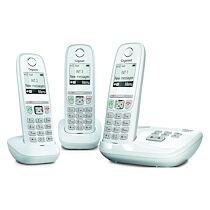 Siemens Pack trio téléphone répondeur sans fil Gigaset AS470A blanc